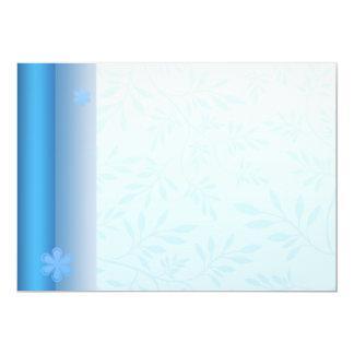 Damasco azul claro elegante invitación 12,7 x 17,8 cm