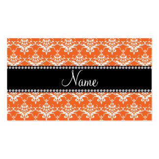 Damasco blanco anaranjado conocido personalizado tarjetas de visita