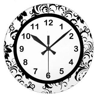 Damasco blanco del ajuste del negro del reloj de p
