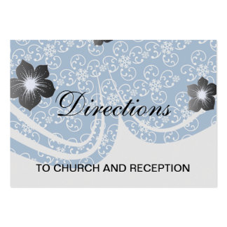 damasco blanco del copo de nieve en azul del invie tarjetas de visita