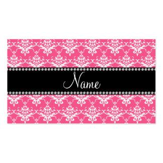 Damasco blanco rosado conocido personalizado tarjeta de visita
