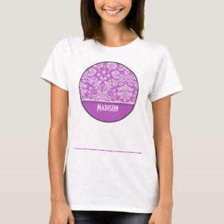 Damasco de color de malva profundo; Personalizado Camiseta