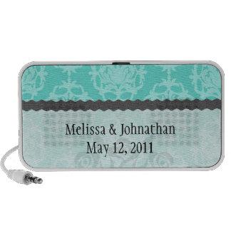 damasco del azul de dos tonos iPod altavoces