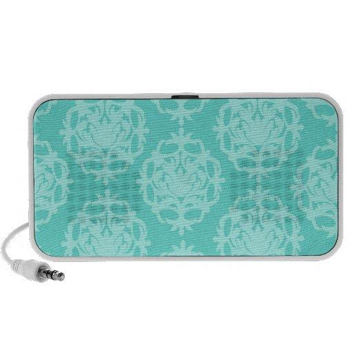 damasco del azul de dos tonos notebook altavoz