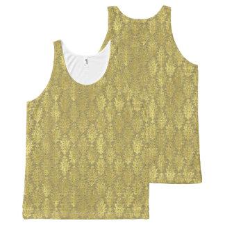 Damasco del oro camiseta de tirantes con estampado integral