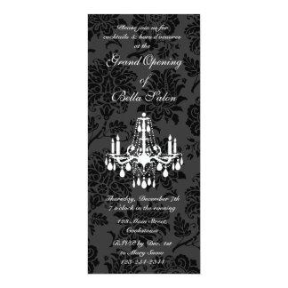 Damasco del Victorian de la gran inauguración Invitación 10,1 X 23,5 Cm