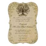 Damasco del vintage del árbol del remolino del ver