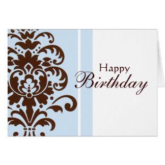 Damasco elegante para el feliz cumpleaños - tarjeta