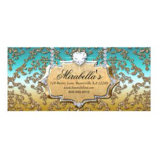 Damasco Glit de la joyería del salón de la moda Tarjeta Publicitaria A Todo Color