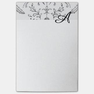 Damasco inicial 4 x 6 de los cuadernos de notas de