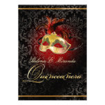 Damasco/Masquerade/DIY/Ruby de PixDezines Rossi Invitacion Personalizada