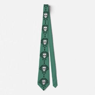 Damasco muerto - lazo elegante del cráneo del corbata
