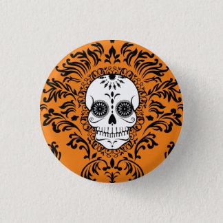 Damasco muerto - Pin elegante del botón del cráneo