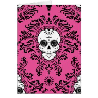Damasco muerto - tarjeta de encargo del cráneo