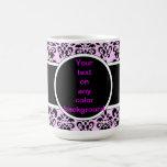 damasco negro en cualquier color tazas de café