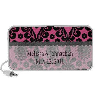 damasco negro en el recuerdo elegante rosado brill iPod altavoz