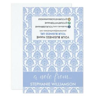 Damasco Notecards (bígaro) del estilista de la Invitación 8,9 X 12,7 Cm