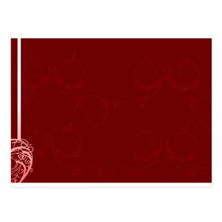 Damasco rojo y blanco del monograma postal