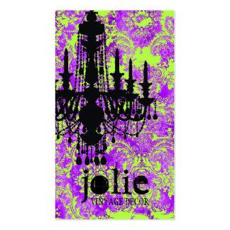 Damasco violeta caliente de la lámpara de la tarjetas de visita