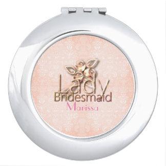 Damask-Lady-Bridal_Delicate_Wedding-Peach_Favor Espejos De Viaje