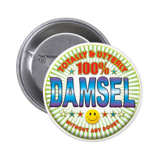 Damisela totalmente chapa redonda de 5 cm