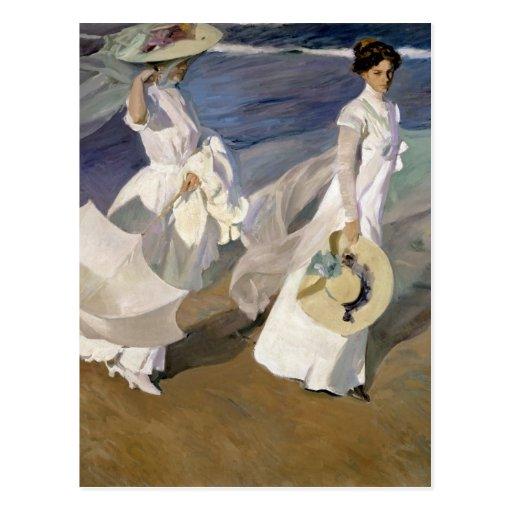 Dando un paseo a lo largo de la costa, 1909 tarjetas postales