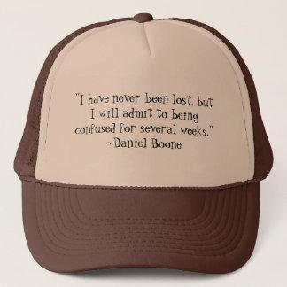 Daniel Boone perdió el gorra de la cita