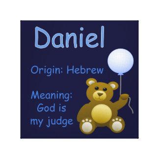 Daniel/decoración del cuarto de niños impresión en lona