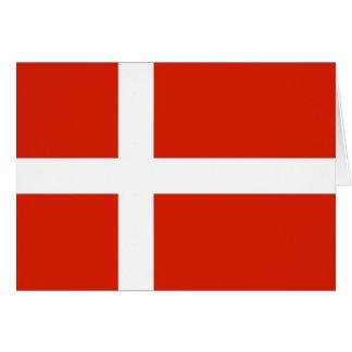 Dannebrog; La bandera oficial de Dinamarca Tarjeta Pequeña