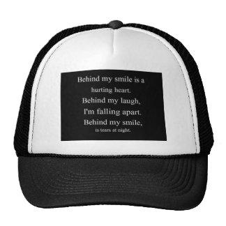Daño de relatio solo del emo de la depresión de la gorra