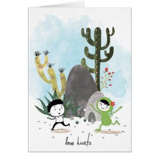 Daños del amor tarjeta de felicitación