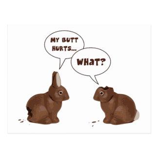 Daños del extremo de los conejos de conejito de postal