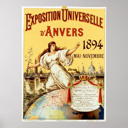 d'Anvers 1894 de Universelle de la exposición del Póster