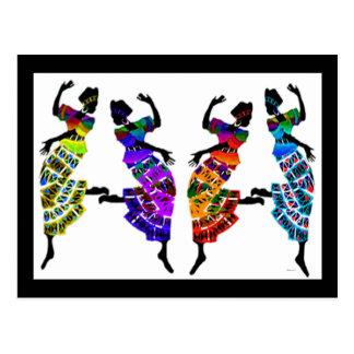 Danza africana del pie postal