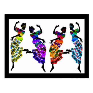 Danza africana del pie tarjeta postal