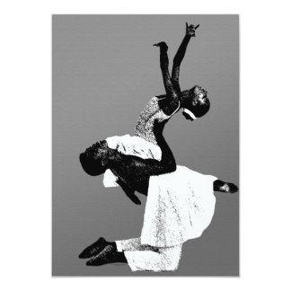 Danza afroamericana invitación 12,7 x 17,8 cm