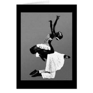 Danza afroamericana tarjeta