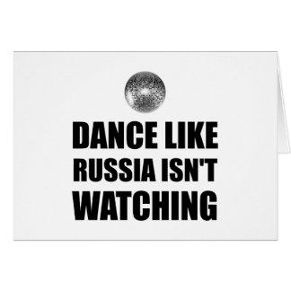Danza como Rusia que no mira Tarjeta