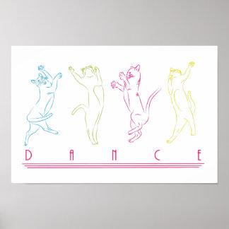 Danza como un gato póster