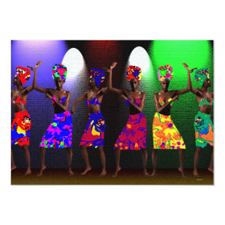 Danza de la hermandad invitación 12,7 x 17,8 cm