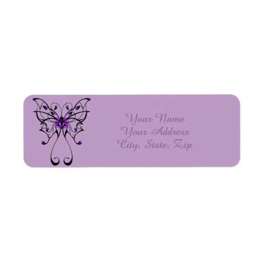 Danza de la mariposa etiqueta de remitente