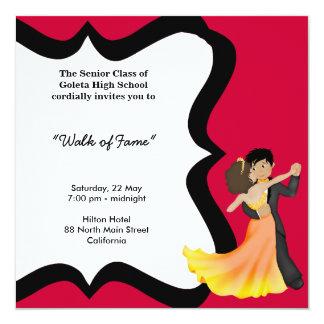 Danza de la noche del baile de fin de curso invitación personalizada