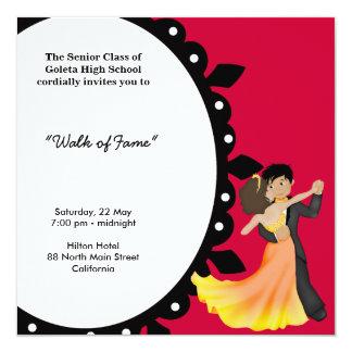 Danza de la noche del baile de fin de curso invitación 13,3 cm x 13,3cm