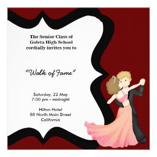 Danza de la noche del baile de fin de curso invitacion personalizada