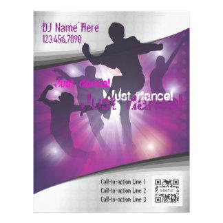 Danza de la plantilla del aviador folleto 21,6 x 28 cm