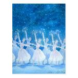Danza de la postal de los copos de nieve