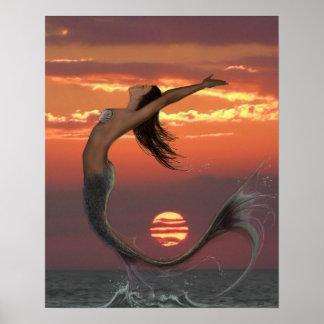 Danza de la puesta del sol póster