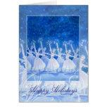 Danza de la tarjeta de felicitación del día de fie