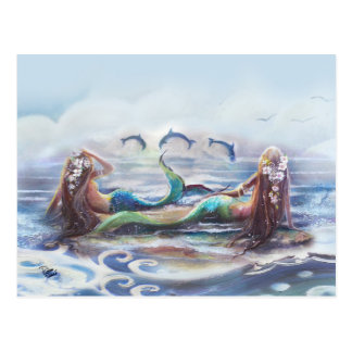 Danza de los delfínes postal