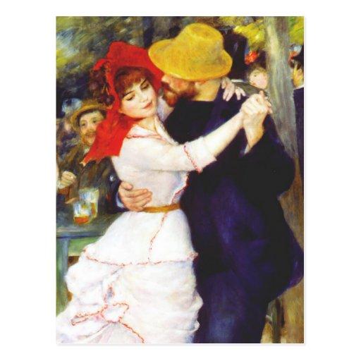 Danza de Renoir en la postal de Bougival